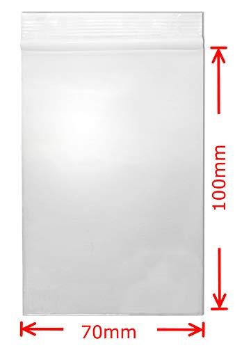 Welties Druckverschlussbeutel 50µ 70x100mm 100Stk. Wiederversch. (Kunststoff-knopf, Muttern)