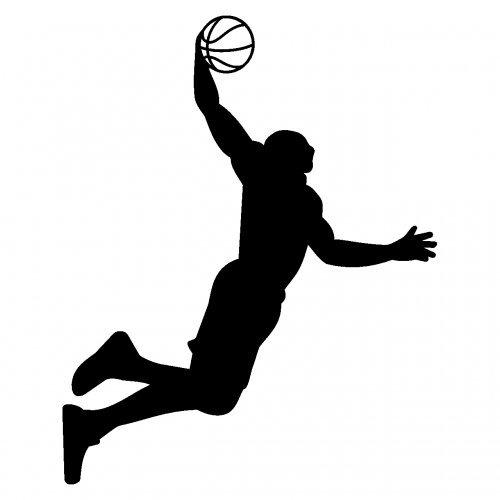 Aufkleber Basketball Slam Dunk Autoaufkleber in 8 Größen und 25 Farben (8x10cm schwarz) (Mädchen Dunk)