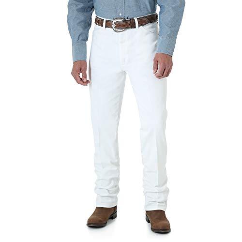 Wrangler Men's Cowboy Cut Slim Fit Jean, White, 34Wx36L -