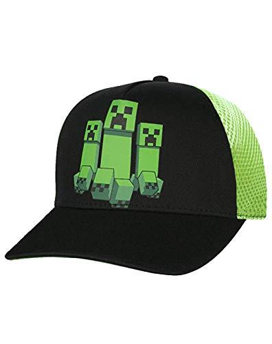 Vanilla Underground Minecraft Creeper Mesh Hat Boys/Youth Baseball Cap (M-L) Chino Youth Cap