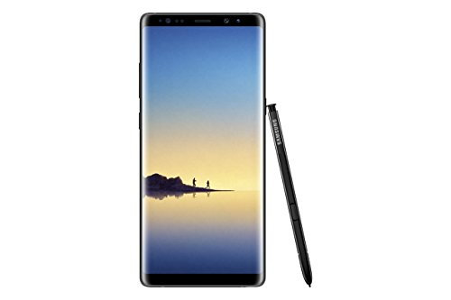 "Samsung Galaxy Note8 Smartphone 4G/LTE, Touchscreen 6.3"" Dual Edge Quad HD + SuperAMOLED, Processore Octa-Core, 6 GB di RAM, Doppia Fotocamera Posteriore, S Pen, Dual Sim, Nero [Versione Italiana]"