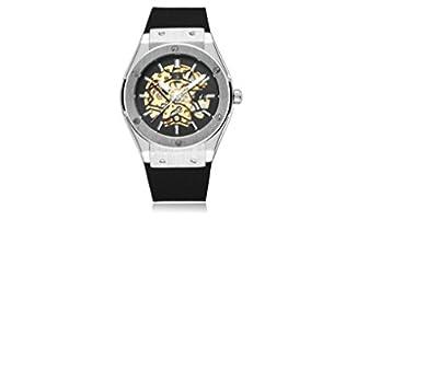 Timelyo® AUTOMÁTICO-Reloj DE Pulsera para Hombre RÉPLICA DE Luxe-Esqueleto Watch MECÁNICO DE Acero DE Estilo Deportivo
