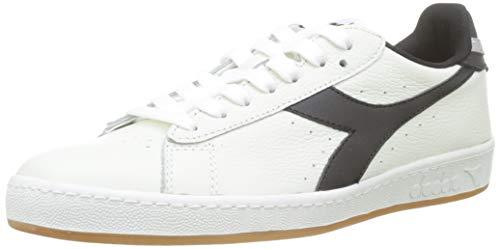 Diadora Game L Low Sneaker Unisex Adulto, Bianco (BCO/Nero/Grigio Pulviscolo C7916) 44.5 EU