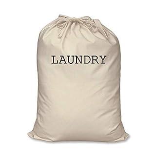 Blanchisserie Sac de 100% Coton Naturel Rangement de Maison Organisation Lavage Panier - Beige, Large 60cm x 76cm