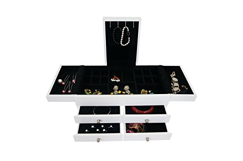Caja-con-compartimentos-para-joyas-Cofrecito-para-joyas-de-color-blanco