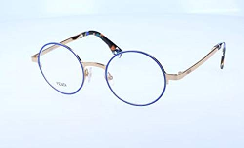 Fendi Damen FF 0091 D43/21-47-21-140 Brillengestelle, Blau, 47