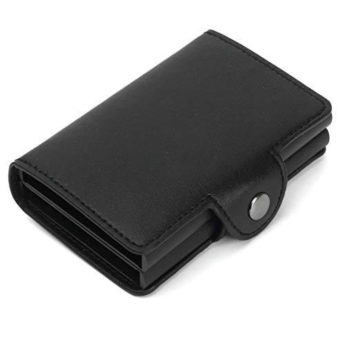 Parámetros del producto:  color: negro, rojo, azul, gris, marrón  material: aleación de aluminio  microfibra, función RFID antimagnética  con capacidad para 14 tarjetas, 2000 billetes de banco  tamaño: 10x6.8x2.5cm  peso: 110g  Embalaje: bolso de OPP...