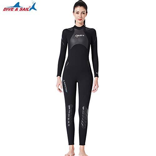 SAIL & DIVE Damen Neoprenanzug,3 mm,Triathlon-Neoprenanzug,Kontur-Passform,Verstellbarer Hals,Schwimm-Neoprenanzug,hält die Körperwärme der Damen,einteiliger Neoprenanzug