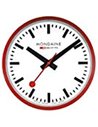 Mondaine Reloj de pared rojo/blanco A995.Clock.11SBC