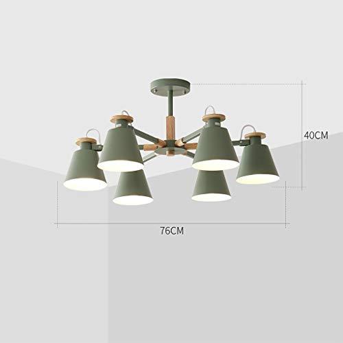 nleuchter, Nordic Modern Minimalist Multi-Kopf dekorative Kronleuchter Wohnzimmer Esszimmer Winkel einstellbar ohne toten Winkel Beleuchtung Farbe Deckenleuchte ()