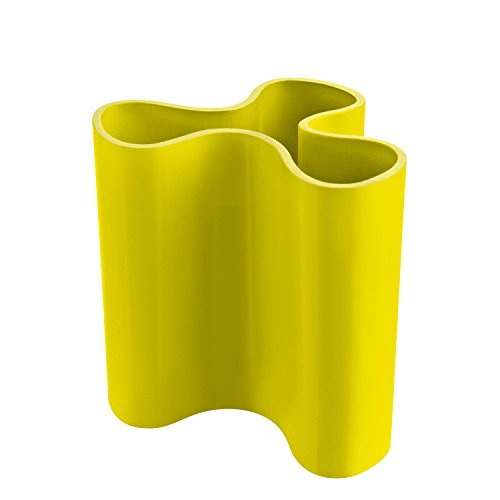 Koziol Clara M, Vase, Blumenvase, Kunststoffvase, Dekoration, 400ml, Solid Senfgrün, 2823582 Clara Vase
