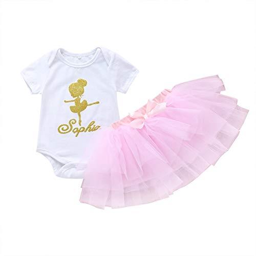 Damen Sommer Kurz Rock Kleidung Set Pwtchenty Einfarbiger Karikatur Ballett Druck Bodysuit Spielanzug + Tutu Röcke Outfits Sets
