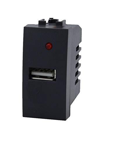 paquete de 5unidades toma USB Individual empotrable Pared Compatible modelo bticino Living...