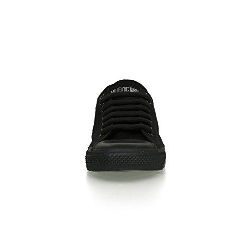Ethletic Black Cap vegan LoCut - Farbe jet black / black aus Bio-Baumwolle Größe 42 - 6