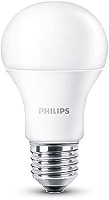 Philips - Bombillas LED, casquillo E27, consumo 9W (equivalente a 60W), 2700K [Clase de eficiencia energética A+]