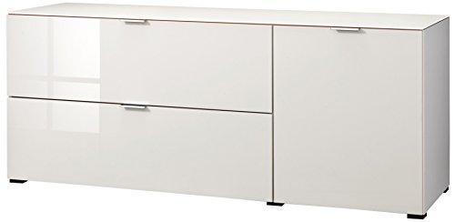 CS Schmalmöbel 45.012.570/019 TV-Board Cleo Typ 14, 163 x 50 x 67 cm, weiß/sandglas