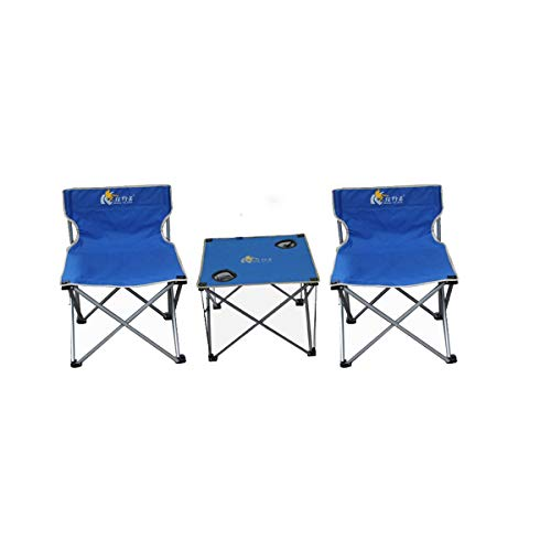 Hengtongtongxun Tragbarer Verstellbarer Klapptisch für Picknick im Freien, Angeln, Strand, Selbstfahrer, Camping-Tisch (Color : Blue)