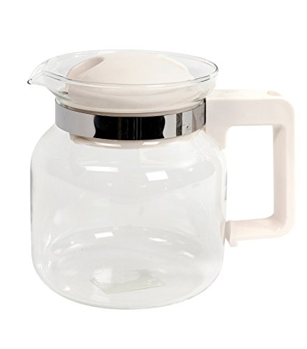 NO LABEL Coffee pot with handle glass 1 litre 31aWYRt bfL