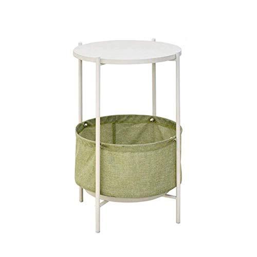 YueQiSong Modernes Minimalistisches Kreatives mit Kleiner Runder Tabelle des Speichers Nordischer Wohnzimmerausgangsofaseiten-Kleiner Couchtisch, Weiß -