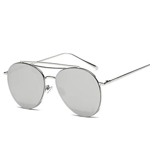 ZJWZ Metal Unisex Sonnenbrille blaues Meer mit der Sonnenbrille Trend Persönlichkeits Farbe Sonnenbrille,NO5