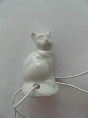 Lindner Porzellan Tropfenfänger Katze sitzend, weiß, für Kaffee- oder Teekannen, Tier Katzen Kätzchen