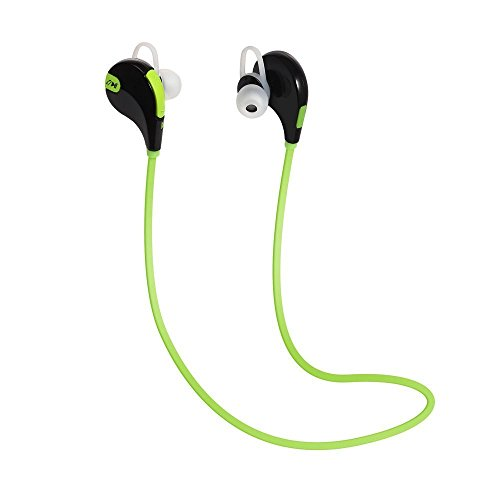 ShopsGoods Wireless Bluetooth In-Ear Headphones For Micromax Canvas Juice 3 Q392 Headset Hands-Free Earphone With Mic And Volume Controller Noise Isolating Sports Earbuds, Sweatproof, Designed for Running, Jogging, Hiking Exercise And Gym (Black, Blue, Green)