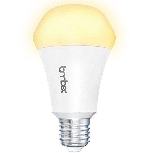 Lombex Lux Nova E27 smarte WLAN LED-Birne 10W LED Smarte Lampe Keine Nabe eerfordrlich Alexa Lampe Einfach weiß (2700K) Dimmbare Timer Funktion, die mit Alexa & Google Home [1er Pack]