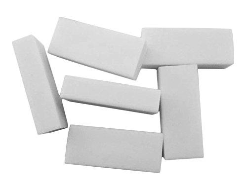 Cosanter Radierer Vinyl Gummi Weiß 10er Pack Radiergummis für Schüler Schule Kunst, Rechteck,19X54X10 mm