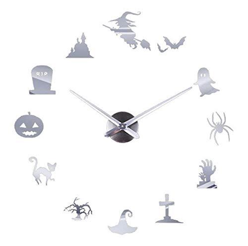 Chuixiaoxiao112 Nach maß DIY wanduhr Spiegel Quarz wanduhr wandaufkleber acryl horloge Hause Halloween decoration27inch (Handwerk Einfach Halloween Kindergarten)