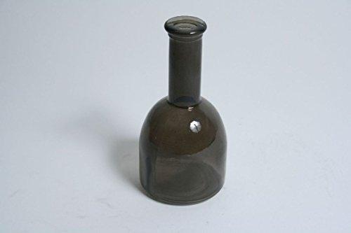 Glasvase / Flasche KAYRA, transparent schwarz, 15,5 cm, Ø 8 cm - farbiges Glas / Tischvase - INNA...