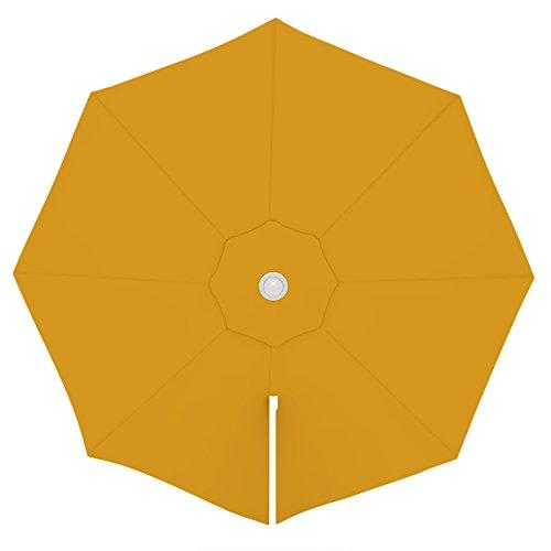 PARAMONDO Toile de rechange pour parasol avec Air Vent pour parasol à mât excentré Parapenda (3,5m / ronde), jaune