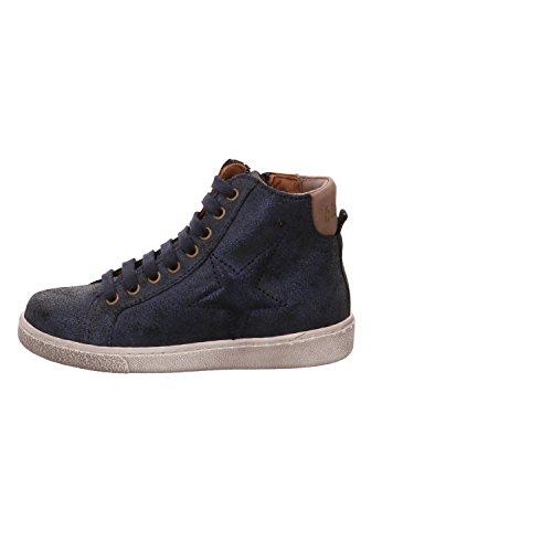 Bisgaard Unisex-Kinder Schnürschuhe Hohe Sneaker Blau