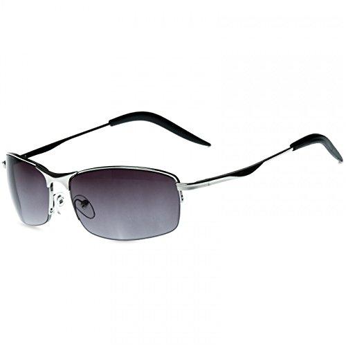 CASPAR SG010 Unisex Matrix Sport Sonnenbrille, Farbe:silber / -