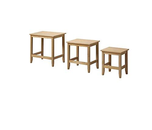 Empire Paintball Contemporain élégant Table Basse en chêne Massif – Lot de 3