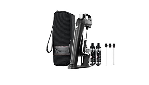 Coravin 101005 Model Two Plus Pack Weinsystem, Edelstahl, graphitfarbe, 10.8 x 11.11 x 30.8 cm