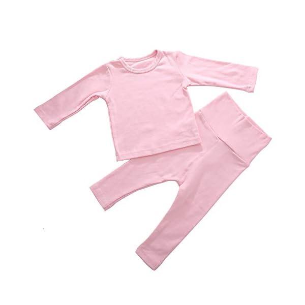Eastern Corridor-EU - Conjunto de ropa interior térmica para bebés y niños (algodón, 2 piezas), color rosa gris oscuro… 1