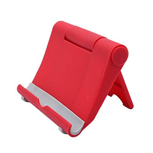 6SlonHy Universal 270 Grad Faltbarer Klebstoff Desktop Handy Tablet Halter Ständer Halterung rot Regulär -