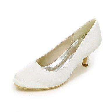 Best 4U® Da donna Scarpe Raso Primavera Estate Decolleté scarpe da sposa Zero A stiletto Punta tonda Zero Drappeggio a lato / per Matrimonio white