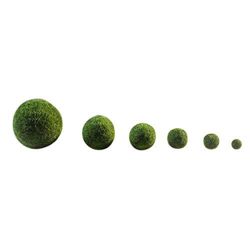 1PC Marimo Moss Balls, pianta acquatica vivente verde vibrante, crea un ambiente sano ideale per pesci vivi, gamberi
