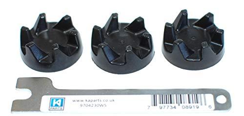 KitchenAid 3 x coupleurx en caoutchou et clé pour mixeurs KSB5 et KSB52