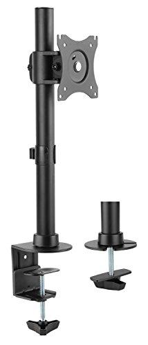 RICOO Universal Monitor Halterung TS7011 Schwenkbar Neigbar Bildschirm Monitorhalterung Tischhalterung LCD LED TFT Curved 4K Bildschirmhalterung VESA 75x75 100x100 33-69cm 13-27 Zoll Schwarz (Fuß-halter)