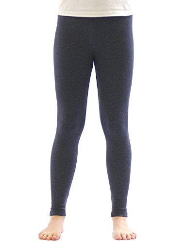 yeset Kinder Mädchen Thermo Leggings Fleece Hose lang Leggins aus Baumwolle Jeans 140