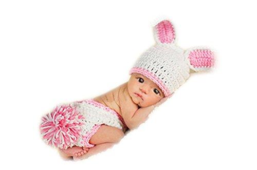 Kaninchen Weißes Junge Kostüm (Mode unisex neugeborenen Jungen-Mädchen-Baby-Outfits Fotografie Requisiten weißes)