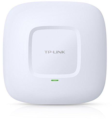 TP-Link EAP220 N600 Dualband Gigabit WLAN PoE Accesspoint zur Deckenmontage (bis zu 300 Mbit/s auf 5GHz und 2,4GHz, zentrale Kontroller-Software) weiß