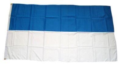 ZENFEST BLAU WEISS 150x90cm (Blaue Flagge Mit Weißem X)