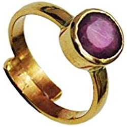 2.75 Crt.(3.0 Ratti) Natural Certified RUBY manik Gemstone Panchdhatu Ring,Birthstone/Astrology Adjustable Ring
