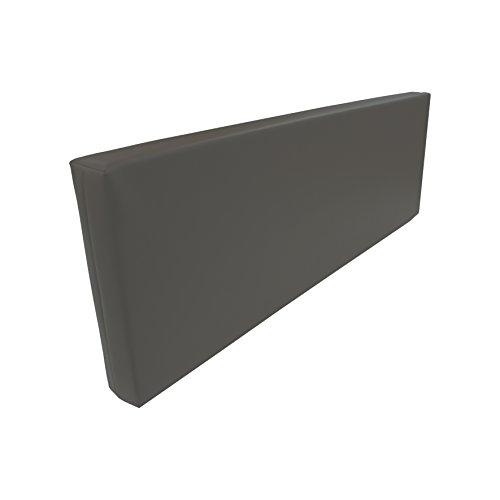 Rückenlehne-Rückenkissen für Palettenkissen Kunstleder flamm-hemmend Auswahl (120x43x10cm, Petrol)