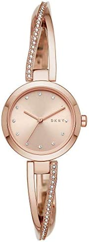 DKNY Womens Quartz Watch, Analog Display and Stainless Steel Strap NY2831