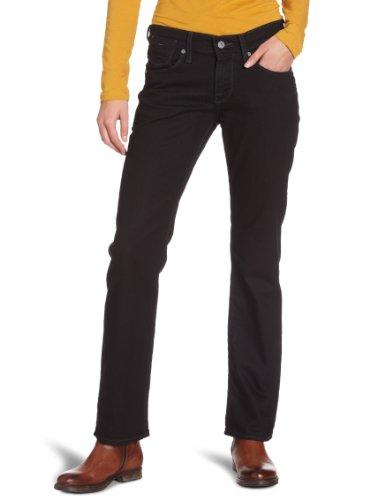 Mustang - Jeans straight, donna Nero (Schwarz (midnight black 490)) 44 IT (30W/36L)