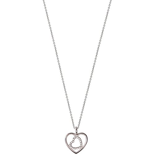 XENOX XS2775 Damen Collier Herz Love Story Sterling-Silber 925 Silber weiß Zirkonia 45 cm